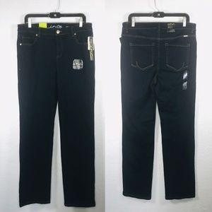 INC Straight Leg Slim Tech Fit Jeans Denim Blue